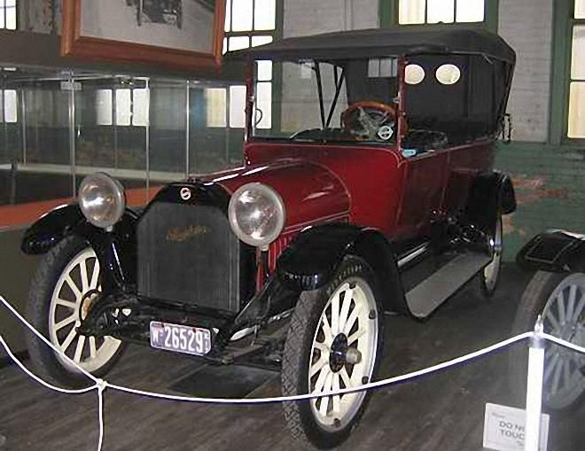 Front Left Maroon 1916 Studebaker Touring Car Picture