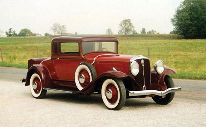 Front Right Red 1931 Studebaker President Car Picture