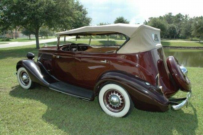Rear Left Maroon 1935 Studebaker Dictator Phaeton Car Picture