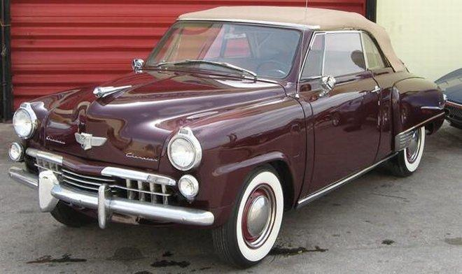 Front Left Side Maroon 1948 Studebaker Champion Car Picture