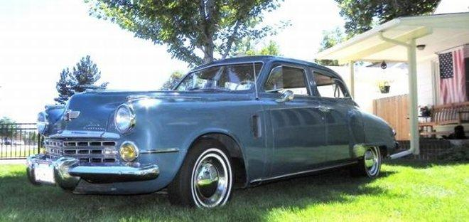 Front Left Side Blue 1948 Studebaker Commander Car Picture