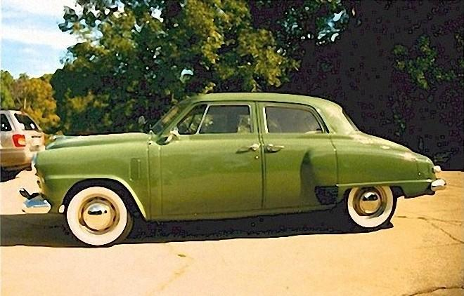 Left Side Green 1949 Studebaker Champion Car Picture