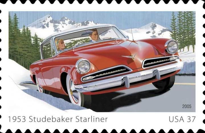 1953 Studebaker Starliner Stamp Picture