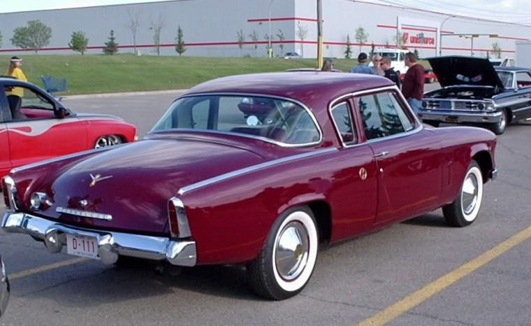 Rear Right Maroon 1953 Studebaker Commander Car Picture