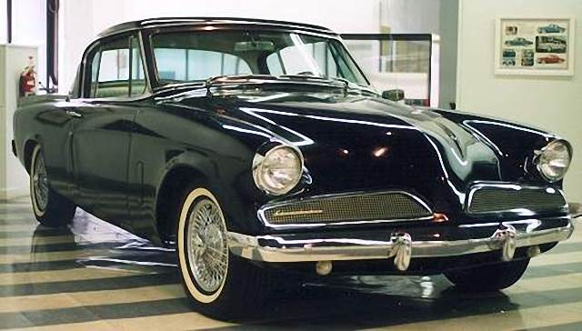 Front Right Black 1955 Studebaker Starliner Car Picture