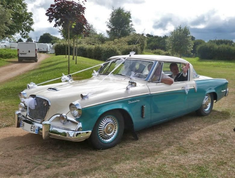 1956 Studebaker Flight Hawk Wedding Car Photo