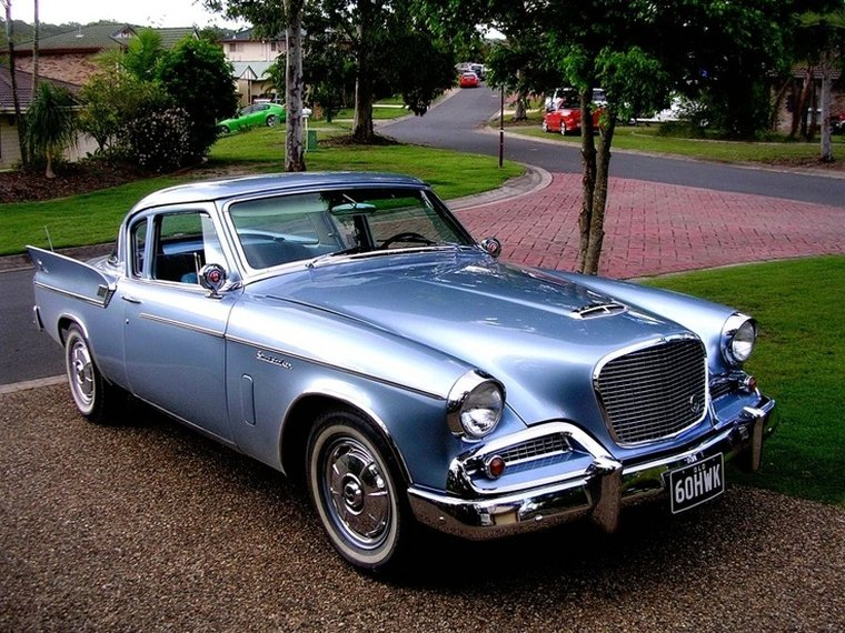 Front Right Blue 1960 Studebaker Hawk Car Picture