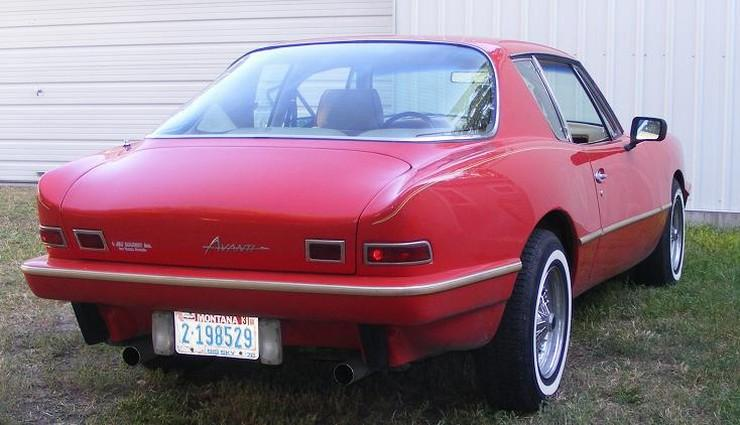 Rear Right Side Red 1984 Avanti (Studebaker) Avanti Car Picture
